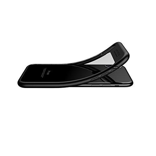 iPhone X Hülle, [Ultra Hybrid] Cover [Schwarz] inkl. Panzerglas Handyhülle TPU Bumper Tasche Panzerfolie Acryl Schutzhülle für iPhone X Case Cover [Black] Schwarz