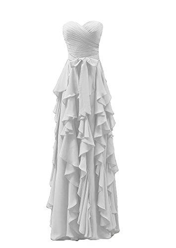 Bridal_Mall - Robe - Trapèze - Sans Manche - Femme Blanc