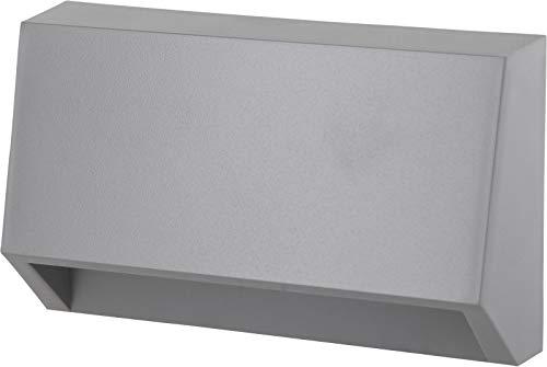 LED Downlight Wandleuchte grau IP65 10cm - für Treppe Flur Hausfassade - warmweiß (3000 K) -