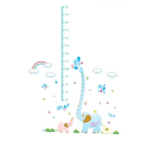 Blue Elephant Spray Regenbogen Höhe Paste Kinderzimmer Cartoon Wandaufkleber