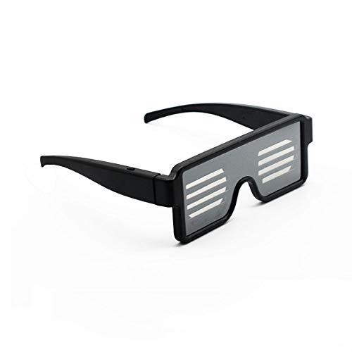 Led-Brille Party Favor mit 8 Modi Quick Flash, Wiederaufladbare Spielzeug-Sonnenbrillen für Nachtclubs DJ-Halloween Geburtstagsfeiern Silvesterparty Zubehör