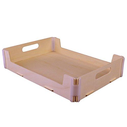 Pack de 3 bandejas - Madera y plástico - Montaje manual tipo puzzle - Ideal también para regalos o decoración