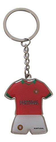 Porte-clés maillot et short de l'équipe du Portugal de football, Coupe d'Europe 2016.