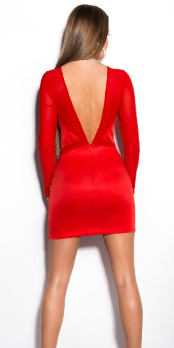 In-Stylefashion - Robe - Femme Rouge Rouge Rouge - Rouge