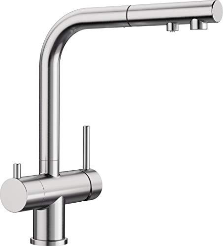 BLANCO FONTAS-S II Filter - Küchenarmatur mit integriertem Wasserfilter und ausziehbarem Auslauf - Edelstahl finish UltraResist - 525230