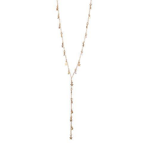 d Silber 925 Für Damen Europa und die Vereinigten Staaten New Stars Moon Koreanische Version der Mode einfach (A) ()