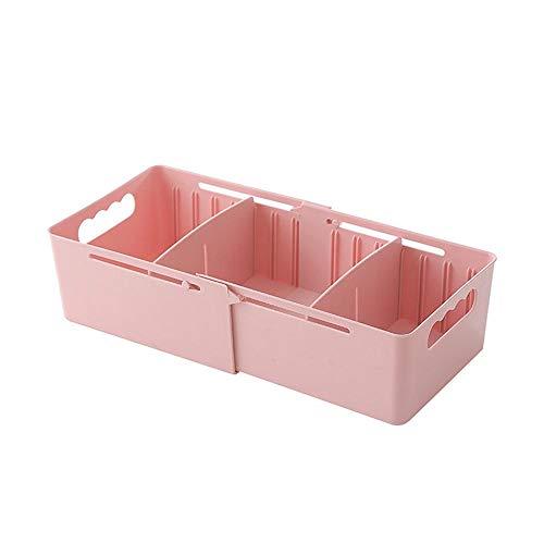 MOGOI Schrank Organizer Box, Einstellbare Cubbies Lagerung Behälter Multifunktions Speicher Korb Kleidung Schublade Organisatoren für Desktop, Schublade, Schrank, Küche (Cubby-boxen)