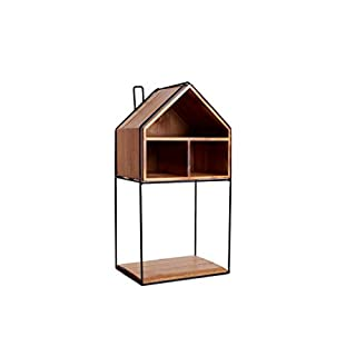 Arise Decor House Design Floating Shelf with Open Storage Compartment