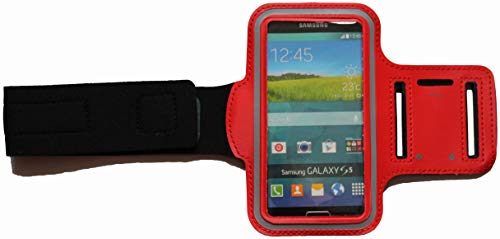 Sport Armband Schweißfest Schutztasche für Apple iPod Touch 4G Fitness Handyhülle Armtasche mit Kopfhöreranschluss, Laufen, Blank S Rot Ipod 4g Armband