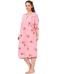 f6d266f0ff Bay eCom UK Plus Size Ladies Nightwear Button Floral Print Short Sleeve  Nighties 3XL To 6XL