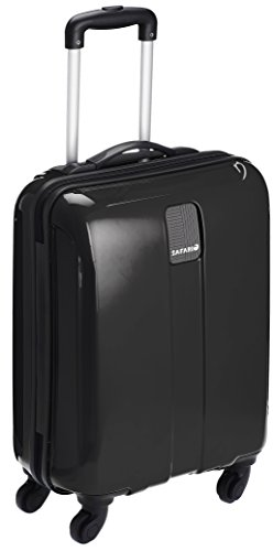 Safari Thorium Polycarbonate 55 cms Black Hardsided Carry On (Thorium-Sharp-Black-55-4WH)
