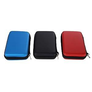 Demiawaking EVA Lagerung Reißverschluss Tasche mit Gurt Schutzhülle Abdeckungs Haut Gehäuse Deckel für Nintendo 3DS XL…