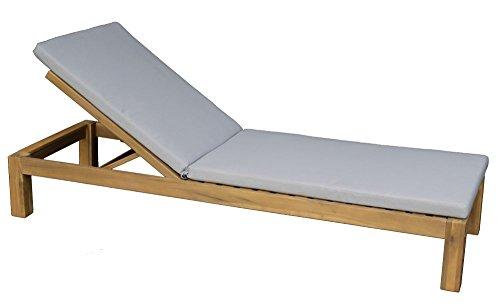 Sonnenliege | Gartenliege Lounger Relaxsessel | Inkl. Auflage In Hellgrau | 100 Prozent...