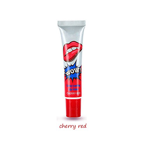 Lips Lippenstift (JUYUAN-EU Lip Gloss Lippen Tattoo Magic Lippenstift dauerhafte Wasserlippenglanz Anhaltend Wasserfest Cherry Red)