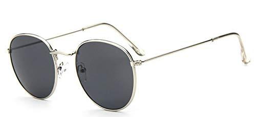 Sonnenbrille Runde Gläser Frame Frau Männer Brille Retro Silber Grau Optical Frames Metall Klare Linse Schwarz Silber Gold Brillen