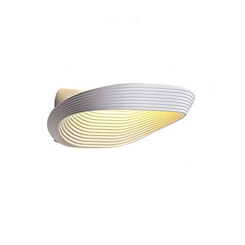 LDDEND Kreative Mode Persönlichkeit Sand weiß Shell Stil Nachttischlampe Schlafzimmer Wandlampe Gang Veranda Wohnzimmer Zink Legierung Lampenkörper Moderne minimalistische dekorative Beleuchtung -