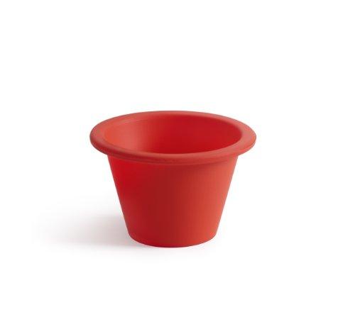 Lékué Classic - Moldes para flan, seis unidades, color rojo