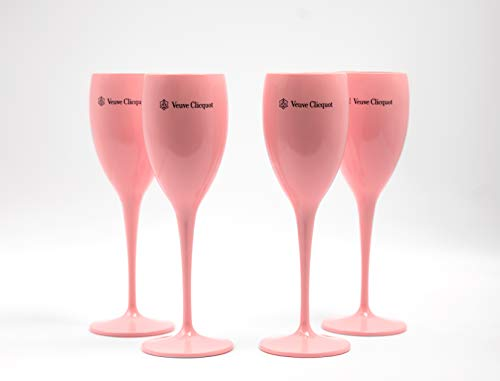 Veuve Clicquot Acryl Flutes Cup Ice Champager Imperial 4 STÜCK (Pink)