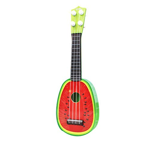 F-blue Simulations-Frucht-Mini-Gitarre Watermelon Kiwi Erdbeere Orange Ukulele spielt Musikinstrument