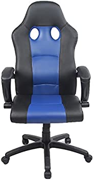 Racoor Video Gaming Chair, Black and Blue - H 116 cm x W 49 cm x D 49.5 cm