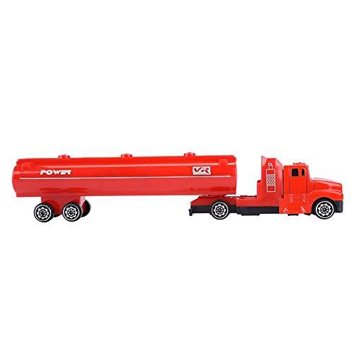 1: 32 Mini Alloy Tanker Modell Kinder Spielzeugauto Kinder Engineering Fahrzeug Transport Tankwagen Spielzeug für Kinder Kinder Geschenke(rot) (Spielzeug-lkw Tankwagen)