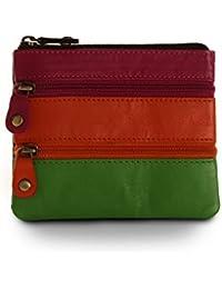 Sienna Rose RFID Small Soft Ladies Genuine Leather Black Multi Designer Purse