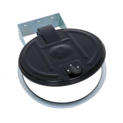 Abfallsackhalter für 120-l-Sack - Wandhalter - verzinkt, Kunststoffdeckel - Abfallbehälter für Betrieb Abfallsackhalter Abfallsammler Müllsackhalter Müllsackständer