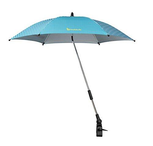 Badabulle B060008 Sonnenschirm für Kinderwagen und Buggy, UV-Schutz 50 Plus, blau
