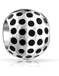 Bling Jewelry Golf Ball 925 Sterling-Silber Bead Charme