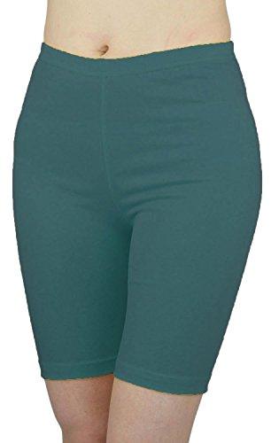 Nouveau Dames Grande taille Cyclisme Short Lycra élastique Le genou Short Jersey Viscose Chaud Pantalons 44-54 Teal