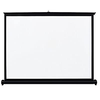 Docooler 40 inch Manual Pull Up Projection Screen High Definition Table Folding Aspect Ratio 4: 3 Portable Projection Screen for Projector DLP Projector Handheld