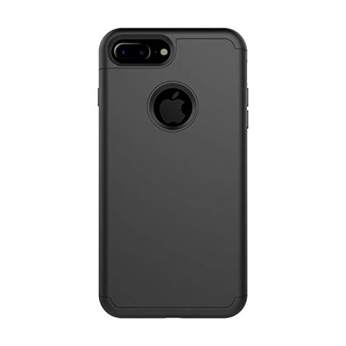iPhone 8 Coque, Lantier 2in1 Hybrid Case pour iPhone 8. Hard Cover pour Iphone 8 Printed Design Pc+ Silicone Hybrid High Impact Defender Case Combo Hard Soft pour Apple iPhone 8 Noir