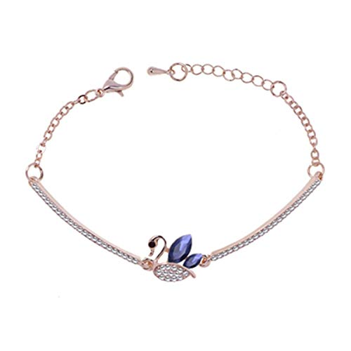 American Swan (MATAIYANG Swan Bracelet Electroplated Rose Gold European and American Blockbuster Women's Fashion Bracelet-Direct Sale by Manufacturers)