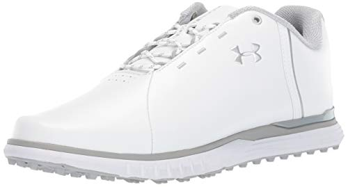 free shipping 94931 64d3f Under Armour Women s Fade SL Golf Shoes, White Overcast Gray Metallic  Silver 100