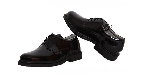 cooperar reducir Discutir  Geox Respira Uniform Mens Shoes Patent Leather 14331 (Geo1), Black 43.5:  Amazon.co.uk: Shoes & Bags