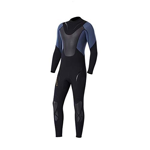 Ljleey-SP Herren Taucheranzug Langarm Glatte Wetsuits Herren Premium Neopren 3mm Kompletter Anzug zum Tauchen Schwimmen Surfen Segeln Schwarz (Farbe : Schwarz, Größe : XXL)
