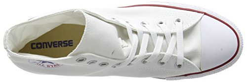 Converse Converse Sneakers Chuck Taylor All Star M7650, Unisex-Erwachsene Hohe Sneakers, Weiß (Optical White), 43 EU (9.5 Erwachsene UK) - 12