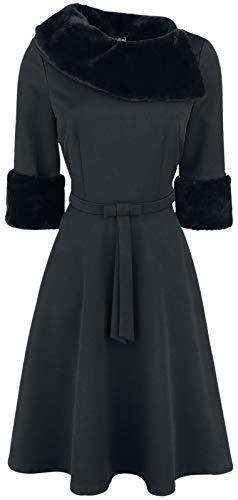 Voodoo Vixen Tabitha Mittellanges Kleid schwarz 3XL