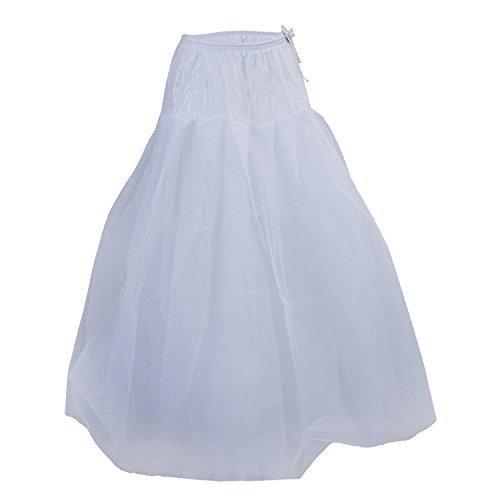 SODIAL (R) Crinolina Sottoveste Sottogonna Bianco per Abito da Sposa