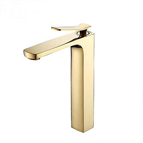 QQ Neue Ankunft Bad Gold Becken Wasserhahn Gold Finish Messingmischer Wasserhahn Hohe torneiras banheiro