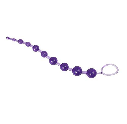 Demarkt Anal Stimulator Stecker mit Perlen Orgasmus Analkugeln Analkette Perlenstab Anal Beads Sex Spielzeug (Blau)