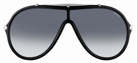 Tom Ford Ace Aviator Visor Sunglasses Diabolical TF152 01B 137 137 Grey Gradient