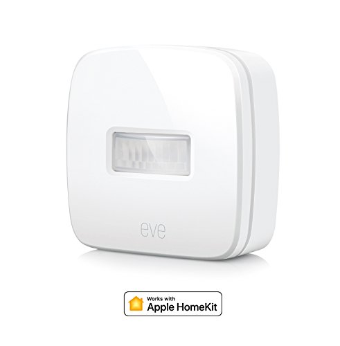 Eve Motion - Sensore di movimento wireless con tecnologia Apple HomeKit, impermeabilità IPX 3, Bluetooth Low Energy