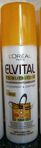 L'Oreal Elvital Re-Nutrition Nourishment & Lightness Leave In Conditioner Spray with Royal Jelly