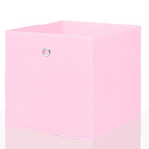 Mixibaby Faltbox Faltkiste Regalkorb Regalkiste Regalbox Aufbewahrungsbox Spielkiste Staubox Korb, Farbe:pink 32 * 32