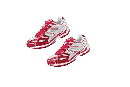 Crivit Damen Laufschuhe Fitness Schuhe Sportschuhe Trainingsschuhe Top Qualität NEU (39 EU, Rot-Weiß)