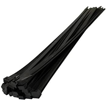 NEW 15PC BLACK /& WHITE PLASTIC NYLON NATURAL STRONG CABLE TIES ZIP TIE WRAPS