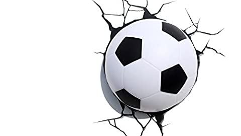 3D Light FX Plastic Soccer Ball Light - White/ Black