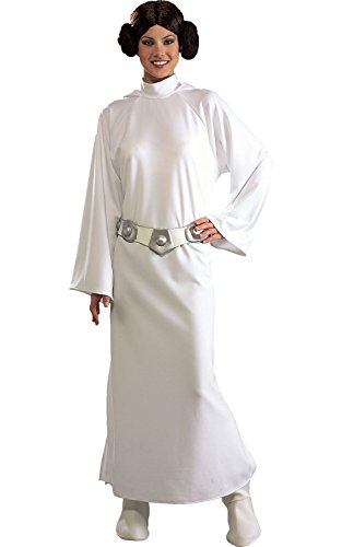 Star Wars Deluxe Princess Leia Adult Costume One size Star Wars Fancy Dress (Princess Halloween-kostüme)