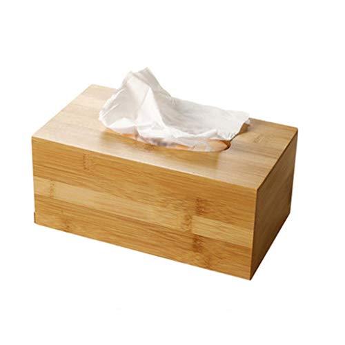 HYBKY Tissue Box Cover Bambus Holz Tissue Box Cover Papier Handtuch Box Schlafzimmer, Schminktisch, Nachttisch, Schreibtisch Tissue Box Taschentuchhalter (Size : 23cm×13cm×10cm) -